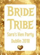 4PK Bride Tribe Wine Labels