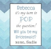 6PK Bridesmaid Beer Labels