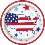 Bright Stars & Stripes Plates