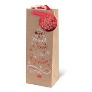 Kraft Tree & Text Bottle Bag