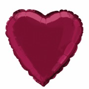 Burgundy Heart Foil Balloon