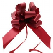 Burgundy Pull Bow Ribbon