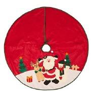 Burgundy Santa Tree Skirt