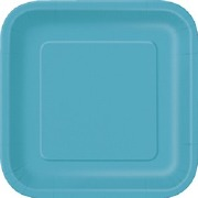Caribbean Teal Paper Plates