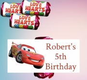 9PK Cars Loveheart Sweets