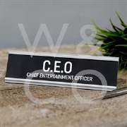 CEO Desk Plaque