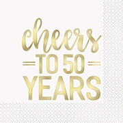 Cheers to 50 Years Napkins