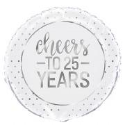 Cheers to 25 Years Balloon