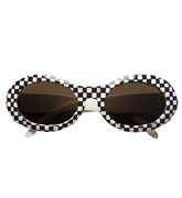 Chequered 60s Glasses