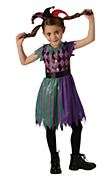 Child Harlequin Jester Costume