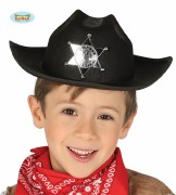 Childs Black Sheriff Hat