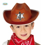 Childs Brown Sheriff Hat