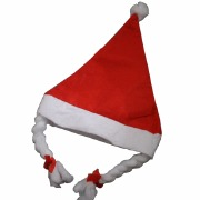 Childs Santa Hat With Plaits