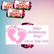 Christening Girl Lovehearts