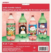 Christmas Bottle Labels