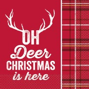 Christmas Deer Napkins