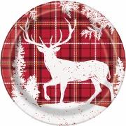 Christmas Deer Plates