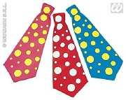 Clown Necktie Red