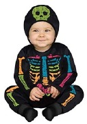 Colour Bones Toddler Costume