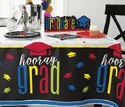 Colourful Cap Grad Tablecover