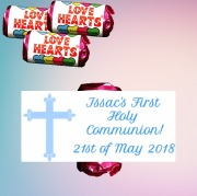 Communion Boy Lovehearts