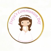15Pk Communion Girl Choc Coins