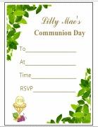 Communion Leaf Invitations