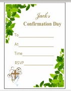 Confirmation Leaf Invitations