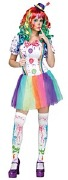 Crazy Color Clown Costume