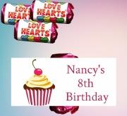 8PK Cupcake Loveheart Sweets