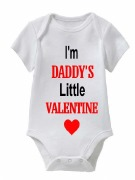 Daddy's Valentine Baby Vest