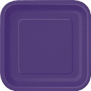 Deep Purple Square Plates