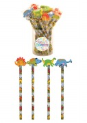 24Pk Dinosaur Pencil & Rubber