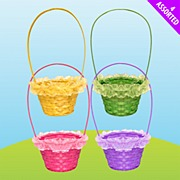 Easter Frill Wicker Basket