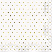 Elegant Gold Dots Napkins