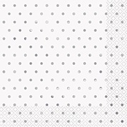 Elegant Silver Dots Napkins
