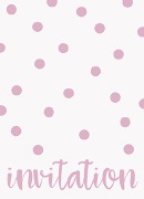 Elegant Pink Dots Invitations