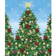 Evergreen Christmas Room Roll