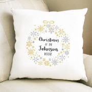 Family Wreath Cushion