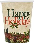 Festive Holly Cups