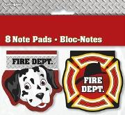 Fire Dept Note Pads