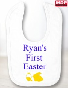 First Easter Baby Boy Bib