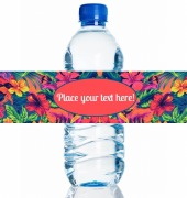 4PK Floral Water Bottle Labels