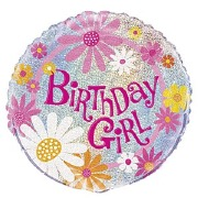 Foil Birthday Girl Balloon