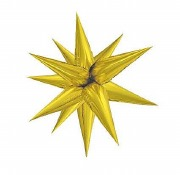 Giant Gold Starburst Balloon