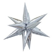 Giant Silver Starburst Balloon