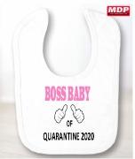 Girl Boss Baby Bib