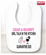 Girl Talk Baby Bib