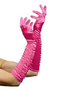 Gloves Pink Satain