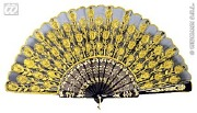 Gold and Black Lace Fan